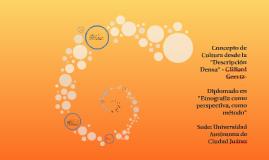 """Concepto de Cultura desde la """"Descripción Densa"""" - Clifford"""