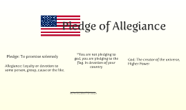 American Flag *Pledge*
