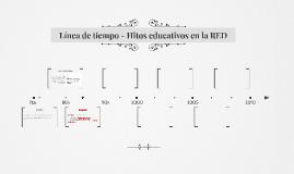 Línea de tiempo - Hitos educativos en la RED