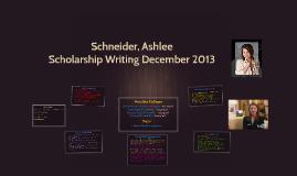 Schneider, Ashlee