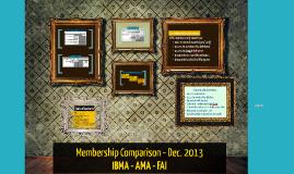 Copy of Membership Comparison - Dec. 2013