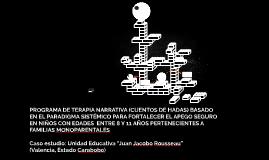 PROGRAMA DE TERAPIA NARRATIVA (CUENTOS DE HADAS) BASADO EN E