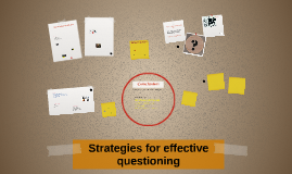 Strategies for effective questioning