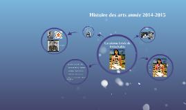 Histoire des arts année 2014-2015