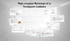 Mapa conceptual Metodología de la Investigación Cualitativa