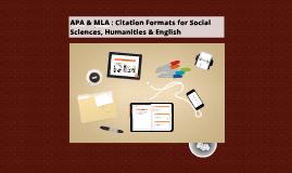 Copy of APA & MLA: Citation Formats