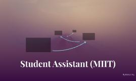 Student Assistant (MIIT)