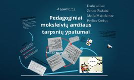 Pedagoginiai moksleivių amžiaus tarpsnių ypatumai