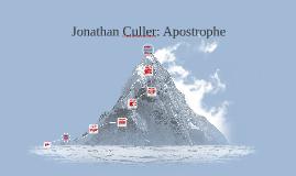 Jonathan Culler: Apostrophe