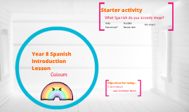 Spanish lesson introduction