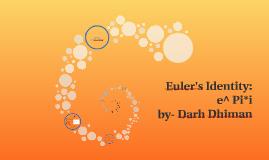 Euler's Identity: