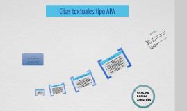 Citas textuales tipo APA