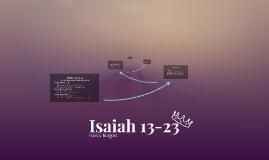 Isaiah 13-23