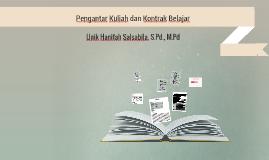Pengantar Kuliah dan Kontrak Belajar