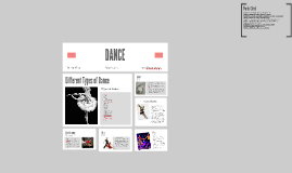 Create a power point presentation on dance or write a report
