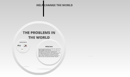 HELP CHANGE THE WORLD
