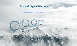 Critical digital literacy
