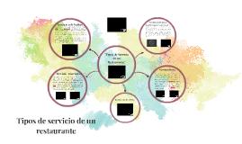 Copy of Tipos de servicio de un restaurante