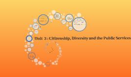Copy of Unit  3 : Citizenship, Diversity and the Public Services