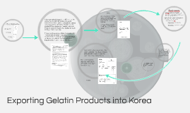 Exporting gelatin products into KR