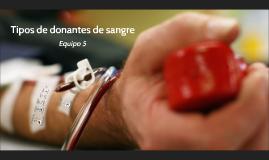 Copy of TIPOS DE DONANTES DE SANGRE