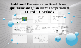 Copy of Copy of Isolation of Exosomes from Blood Plasma: