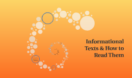 Informational Texts & How to Read Them