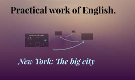 Practical work of English.