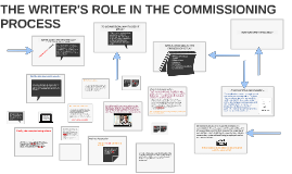 THE WRITER'S ROLE IN THE COMMISSIONING PROCESS