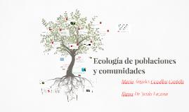 Ecología de poblaciones y comunidades