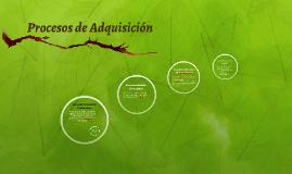 Copy of Procesos de Aquisición