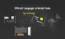 Different Languages and Writing in Ancient India