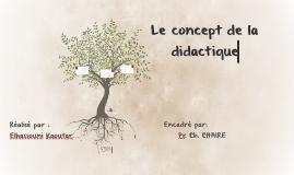 Le concept de la didactique