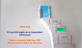 CIMIE2013 - El caso EOI-inglés en la Comunidad Valenciana