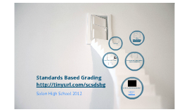 Standards Based Grading- 2012 Parent Meetings