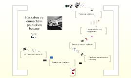 Taboe op onmacht in politiek en bestuur