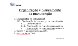 03 Organização e planeamento da manutenção