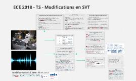 Modifications ECE 2018 - TS SVT