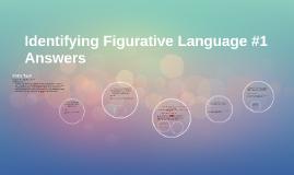 Identifying Figurative Language #1