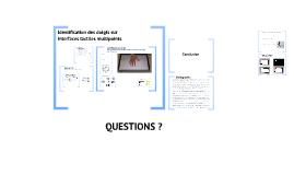 Identification des doigts sur interfaces tactiles multipoints
