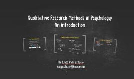 Qualitative Research Methods 2017