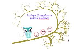 Lexique Francaise en Suisse Romande