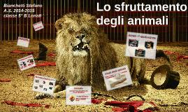 Lo sfruttamento degli animali