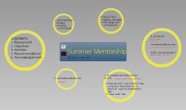 ESIH Summer Mentorship Framework - Presentation