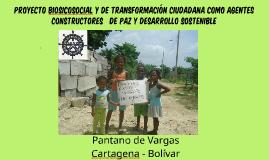 PROYECTO BIOSICOSOCIAL Y DE TRANSFORMACIÓN CIUDADANA COMO AGENTES CONSTRUCTORES   DE            PAZ Y DESARROLLO SOSTENIBLE