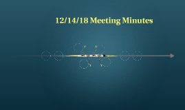 12/14/18 MEETING NOTES