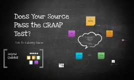 Copy of Does Your Source Pass the CRAAP Test?