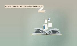 FAMOUS BOOKS TRANSLATED TO FILIPINO