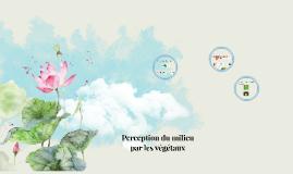 Perception du milieu par les végétaux