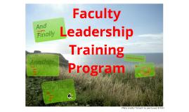 Faculty Leadership Training Program